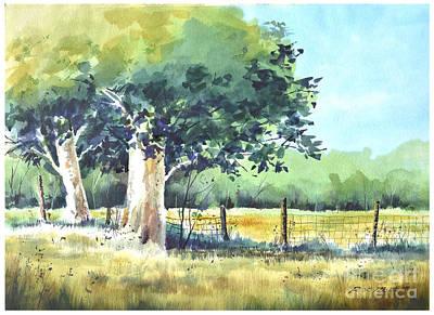 Summer Trees Art Print by Rick Mock
