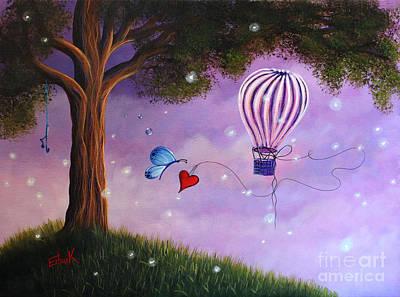 Fantasy Tree Art Painting - Summer Twilight by Shawna Erback