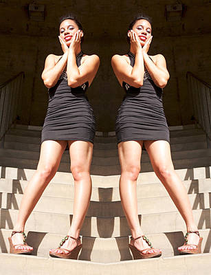Repetition Photograph - Summer Twins At Bent Stairs 2014 by James Warren
