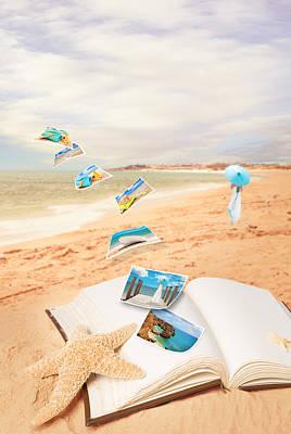Summer Vacation Postcards Art Print by Amanda Elwell