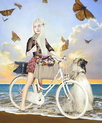 Bicycle Mixed Media - Summer by Vic Lee