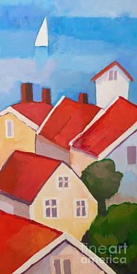 Painting - Summer Village by Lutz Baar