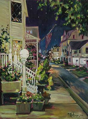 Asbury Park Painting - Summer Walk Home by MG Ferguson