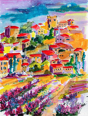 Summer Walk In Provence Art Print