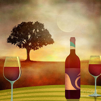 Summer Wine Art Print by Bedros Awak