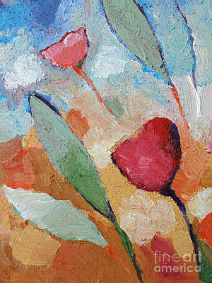 Textured Paint Painting - Summerbreeze by Lutz Baar