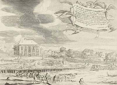 Wash Drawing - Summerhouse Of Cunibert Van Wenzelberg, Jan Van Ossenbeeck by Jan Van Ossenbeeck And Johann Cunibert Von Wenzelsberg
