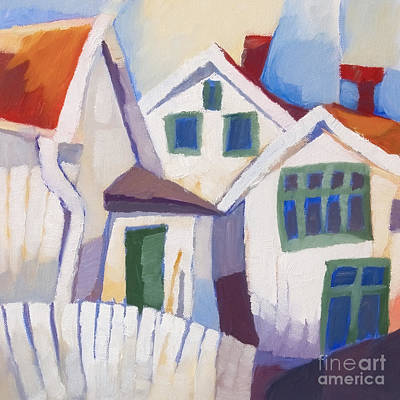 Painting - Summerhouses by Lutz Baar