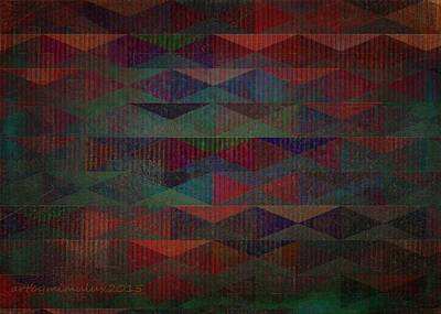Geometric Digital Art Digital Art - Summernights by Mimulux patricia no No