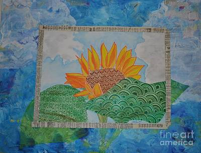 Wall Art - Mixed Media - Summer's Bloom by Jeanette Clawson