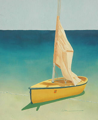 Painting - Summer's Boat by Diane Cutter