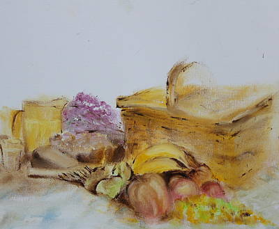 Picnic Hamper Painting - Summers Day by Genny Goodman