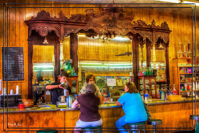 Photograph - Old Drug Store - Summer's Day Shakes by Barry Jones