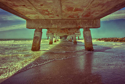 Photograph - Summers Under The Pier by Nicholas Evans