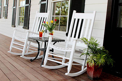 Rocking Chairs Photograph - Summertime And Sweet Tea by Toni Hopper