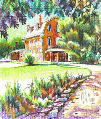 Arcadia Valley Drawing - Summertime At Ursuline No C101 by Kip DeVore