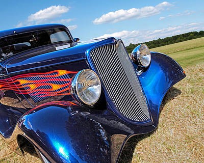 Photograph - Summertime Blues - Ford Coupe Hot Rod by Gill Billington