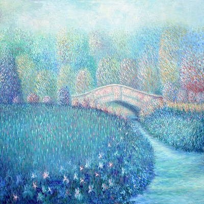 Art Print featuring the painting Summertime Blues by Lynn Buettner
