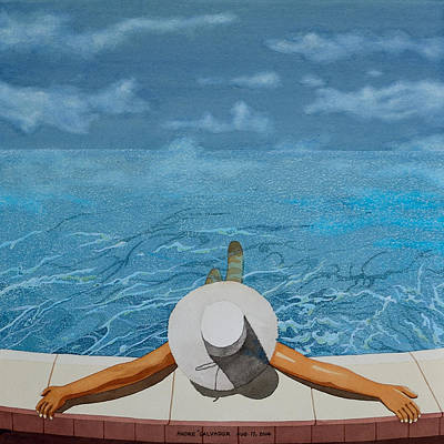 Painting - Summertime Even The Clouds Take A Dip by Andre Salvador