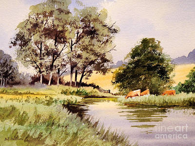Vale Painting - Summertime In England by Bill Holkham