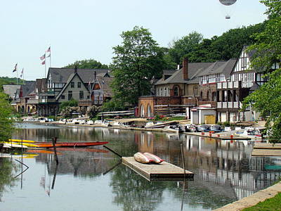 Photograph - Summertime On Boathouse Row by Alice Gipson