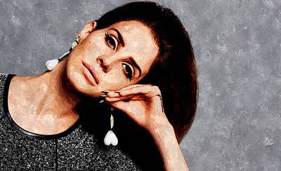 Lana Del Rey Painting - Summertime Sadness by Florian Rodarte