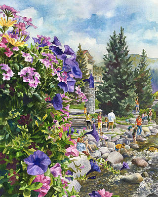 Petunia Painting - Summertime Saturday by Anne Gifford
