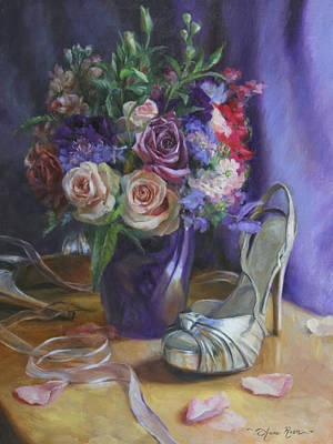 Silver Painting - Summertime Stilettos by Anna Rose Bain