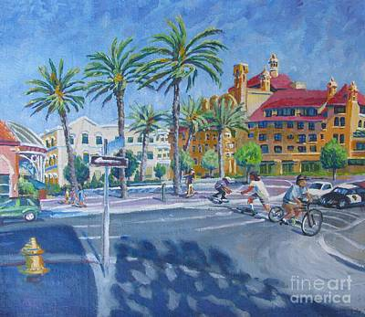 Port City Of Stockton Painting - Summertime by Vanessa Hadady BFA MA