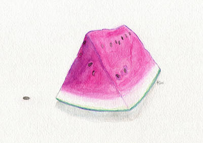 Painting - Summertime Watermelon by Roz Abellera