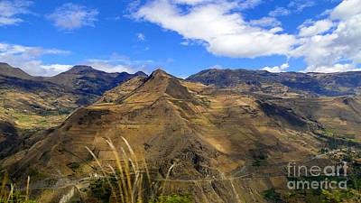 Patchwork Quilts Photograph - Summit Farms In The Andes Of Ecuador Panorama by Al Bourassa