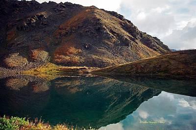 Mountain Reflection Lake Summit Mirror Photograph - Summit Lake Reflection by Laura Lowrey