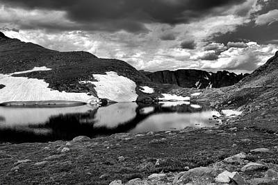 Photograph - Summit Lake Study 4 Bw by Robert Meyers-Lussier