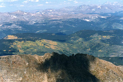 Photograph - Summit Mt. Evans Looking North by Robert Lozen
