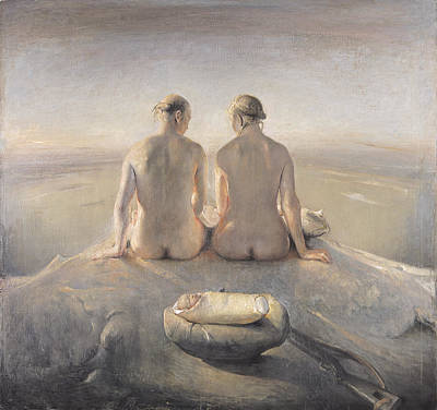 Naked Man Painting - Summit by Odd Nerdrum