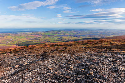 Summit Of Djouce Mountain In Wicklow Art Print by Semmick Photo