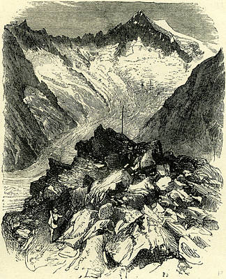 Switzerland Drawing - Summit Of The Aeggischorn Switzerland by Swiss School