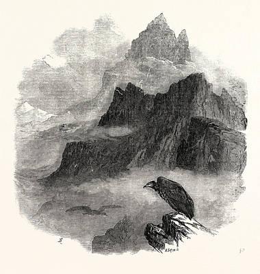 Summit Of The Pic Du Midi Dosseau Pyrenees 1854 Art Print by English School