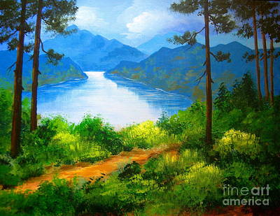Painting - Summit  Trail  by Shasta Eone