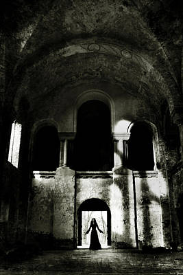 Old Building Photograph - Summoning by Cambion Art