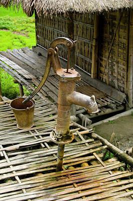 Bamboo House Photograph - Sumoimari Ghat, Majuli Island, Assam by Ellen Clark