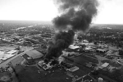 Photograph - Sumter Fire In Black And White by Joseph C Hinson Photography