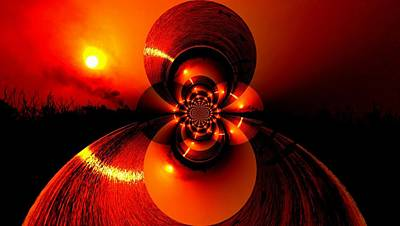 Sun Abstraction-3 Art Print by Anand Swaroop Manchiraju