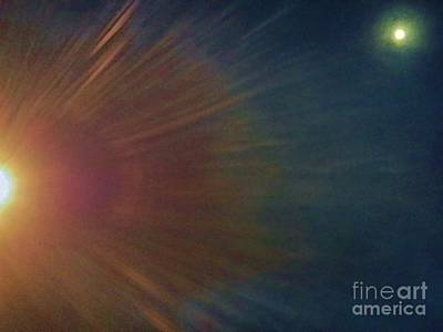 Photograph - Sun And  Moon by Angela J Wright