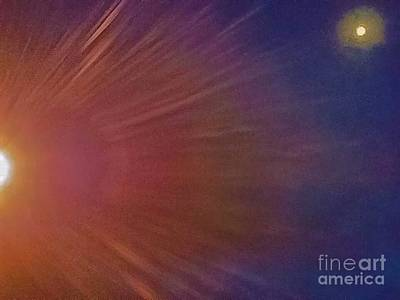 Photograph - Sun And Moon Final by Angela J Wright