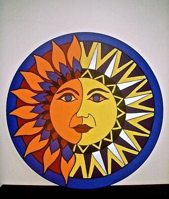 Sun And Moon Art Print by Stephanie Moore