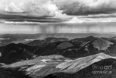 Photograph - Sun And Rain On Pikes Peak by CJ Benson
