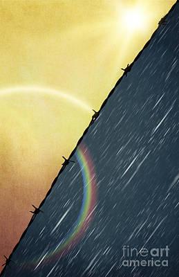 Abstract Digital Art Mixed Media - Sun And Rain by Svetlana Sewell