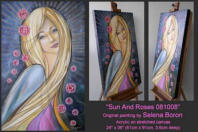 Sun And Roses 081008 Comp Art Print by Selena Boron