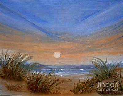 Sun And Sand Art Print by Holly Martinson